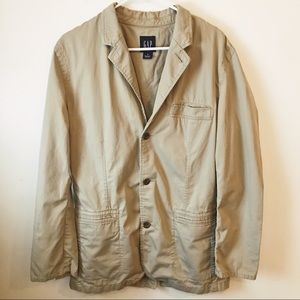 GAP Tan Khaki Sports Suit Jacket Coat Size Medium